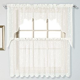 Savannah Linen Window Curtain Panel and Valance in Oyster