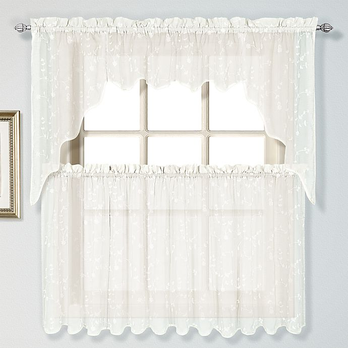 Alternate image 1 for Savannah 36-Inch Window Curtain Tiers In Oyster