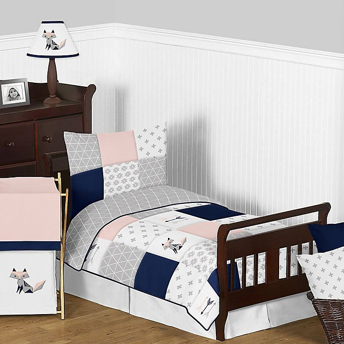 Alternate image 1 for Sweet Jojo Designs Fox Patch 5-Piece Toddler Bedding Set