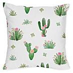 Sweet Jojo Designs Cactus Floral Square Throw Pillows (Set of 2)