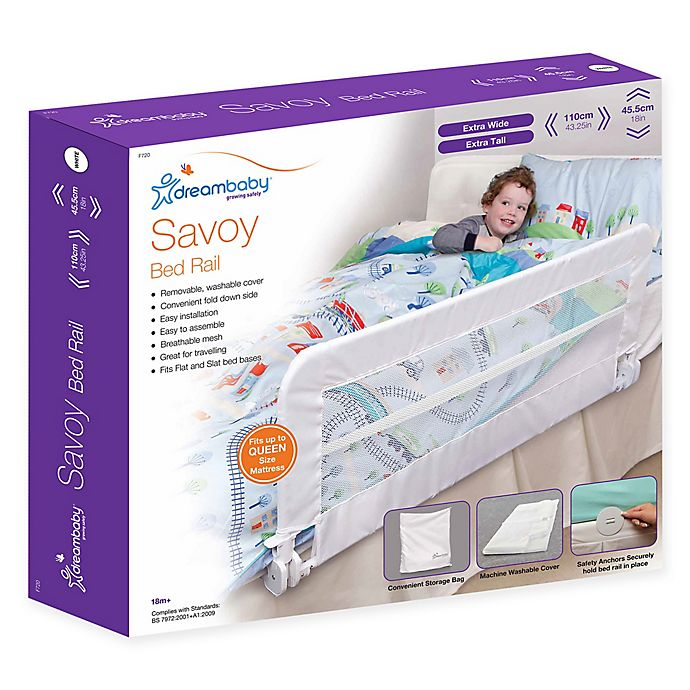 Alternate image 1 for Dreambaby® Savoy Full Size Bed Rail in White