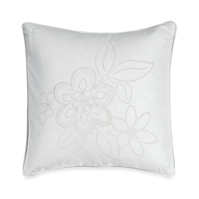 Alternate image 1 for Barbara Barry® Pave 16-Inch Square Toss Pillow in Alabaster