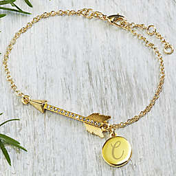 10K Gold-Plated Follow Your Arrow 7-Inch Charm Bracelet