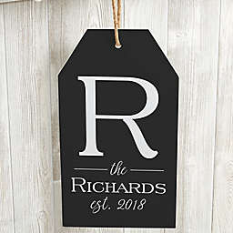 Family Name 9.5-Inch x 17-Inch Wall Tag