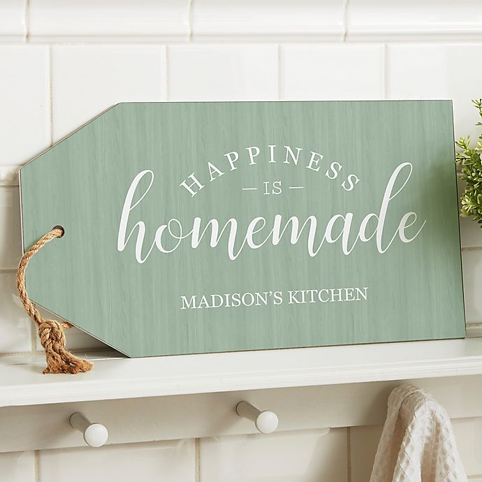 Alternate image 1 for Happiness Is Homemade Wall Tag