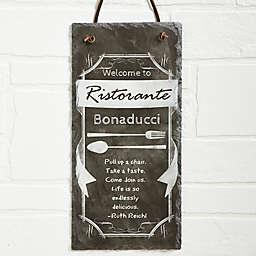 Kitchen Chalkboard Slate Sign