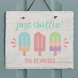 Summer Popsicle Slate Plaque