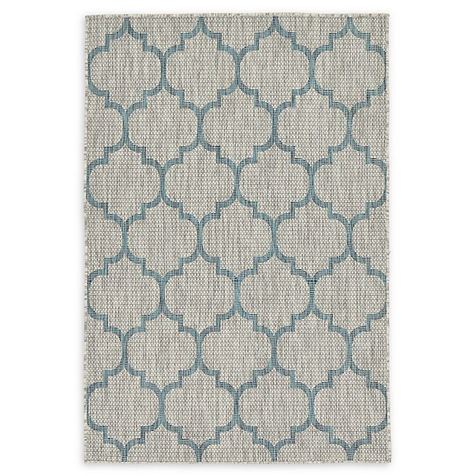 Alternate image 1 for Unique Loom Trellis 4' x 6' Power-Loomed Indoor/Outdoor Area Rug in Grey
