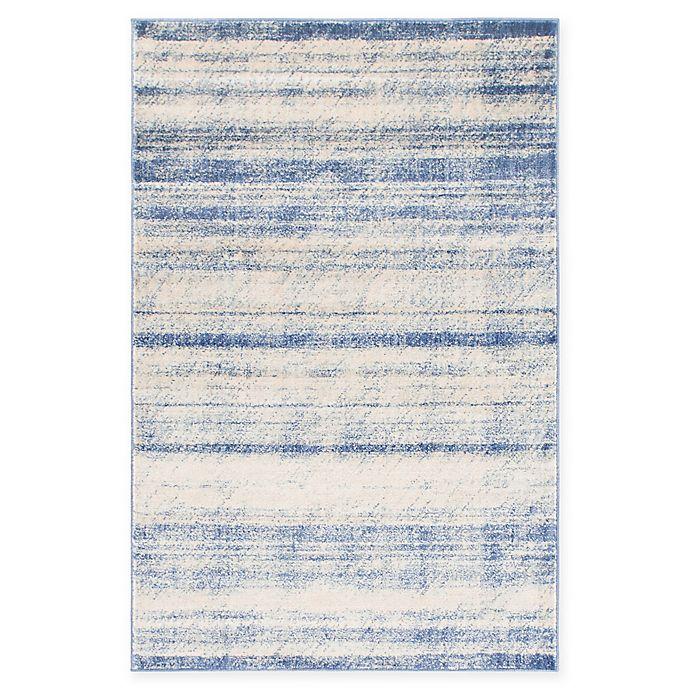 Alternate image 1 for Unique Loom Mykonos Solaris 4' X 6' Powerloomed Area Rug in Blue