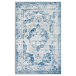Unique Loom Salle Garnier Sofia Power-Loomed Rug in Blue