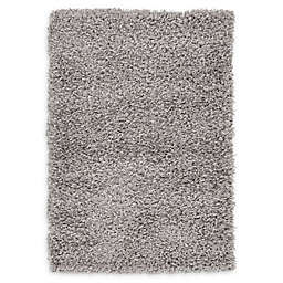 Unique Loom Solid Shag 2'2 x 3' Powerloomed Accent Rug in Cloud Grey