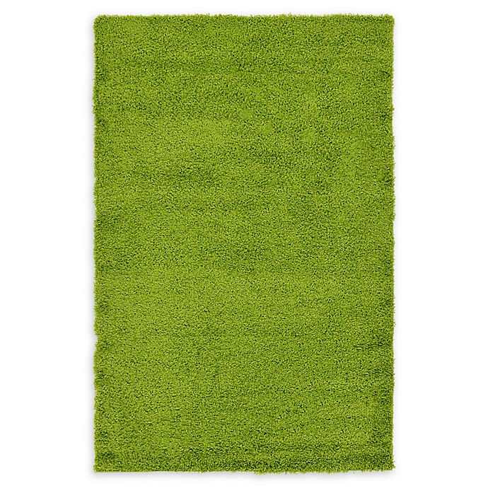 Alternate image 1 for Unique Loom Solid Shag 5' X 8' Powerloomed Area Rug in Grass Green