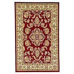 Unique Loom Reddington Agra Powerloomed Rug in Red