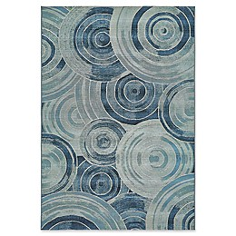 Unique Loom Rippling Eden Indoor/Outdoor Area Rug in Light Blue
