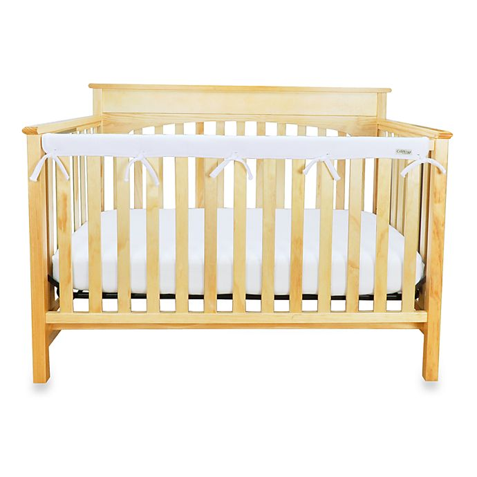 Alternate image 1 for Trend Lab® CribWrap™ Convertible Crib Long Narrow Rail Cover in White
