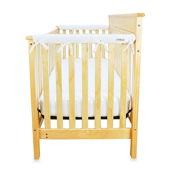 Alternate image 1 for Trend Lab® CribWrap™ Convertible Crib Short Narrow Rail Cover in White