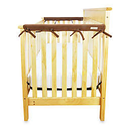 Trend Lab® CribWrap™ Convertible Crib Short Narrow Rail Cover in Chocolate Brown