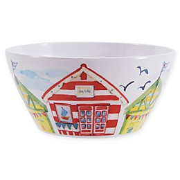 Beach House Melamine Salad Bowl