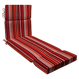 Honeycomb Stripe Outdoor Chaise Lounge Cushion