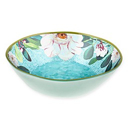 New York Botanical Garden® Margaret Melamine Serving Bowl in Seabreeze Blue