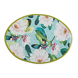 New York Botanical Garden® Margaret Melamine Serving Tray in Seabreeze Blue