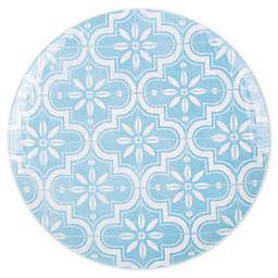 Porto Melamine Dinner Plate in Blue/White
