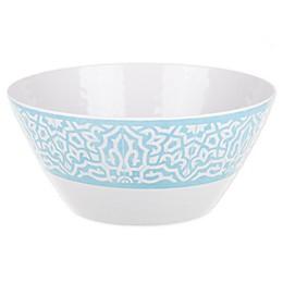 Porto Melamine Serving Bowl in Blue/White