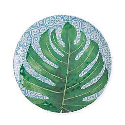 Arcadia Tropical Leaf Melamine Salad Plate
