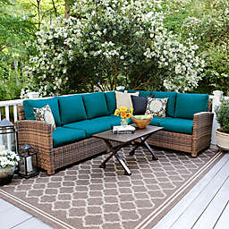 Leisure Made Dalton 5-Piece Outdoor Sectional Set in Peacock