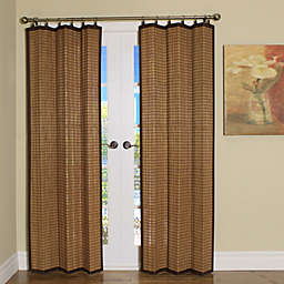 Easy Glide All-Natural Bamboo Ring Top Window Curtain Panels