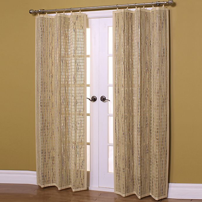 Easy Glide Bamboo Ring Top Window Curtain Panels