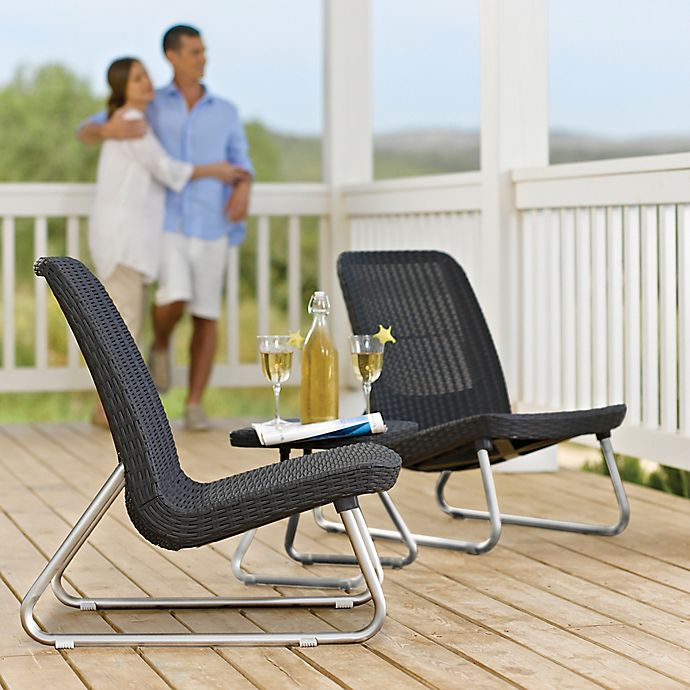 Alternate image 1 for Keter Rio 3-Piece Patio Set in Grey