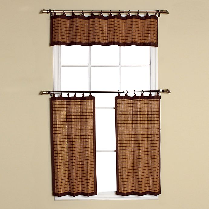 Bamboo Kitchen Curtains: Easy Glide All-Natural Bamboo Ring Top Window Curtain