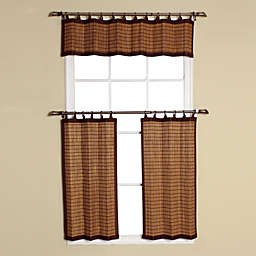 Easy Glide All-Natural Bamboo Ring Top Window Curtain Valance
