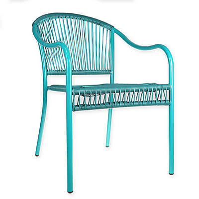 Pop Color Stacking Wicker Chair in Teal
