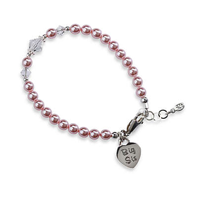 Cherished Moments Big Sis Medium Sterling Silver Bracelet in Pink