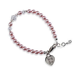 Cherished Moments Big Sis Medium Sterling Silver Bracelet in Pink