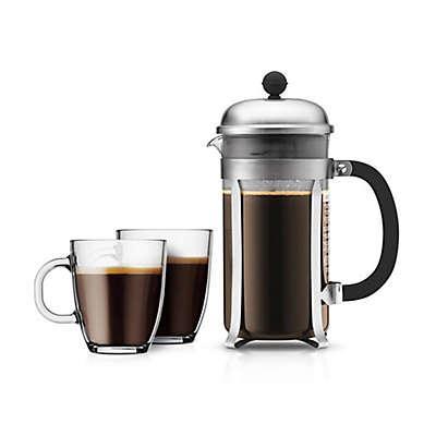 Bodum® Chambord 3-Piece French Press Coffee Maker Set in Matte Silver