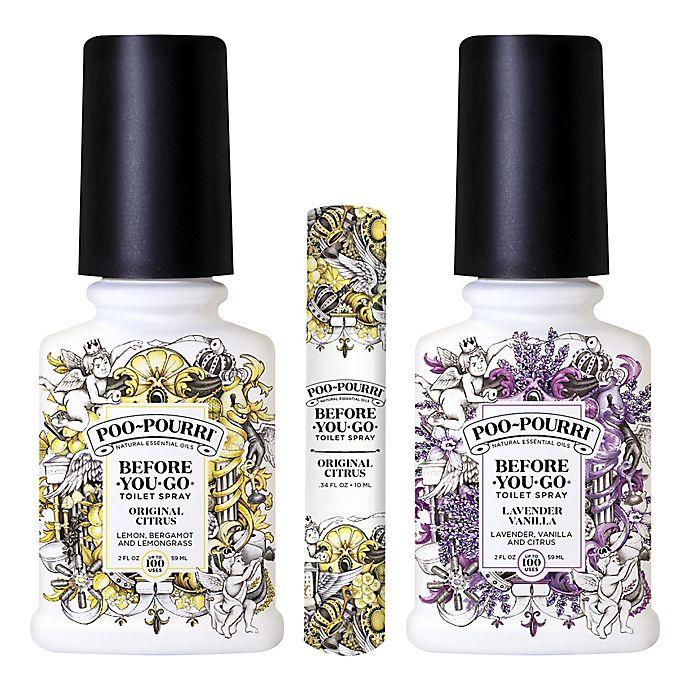 Alternate image 1 for Poo-Pourri® Before-You-Go® 3-Piece Toilet Spray Set in Citrus/Lavender Vanilla