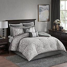 Madison Park Odette Jacquard 8-Piece Reversible Comforter Set