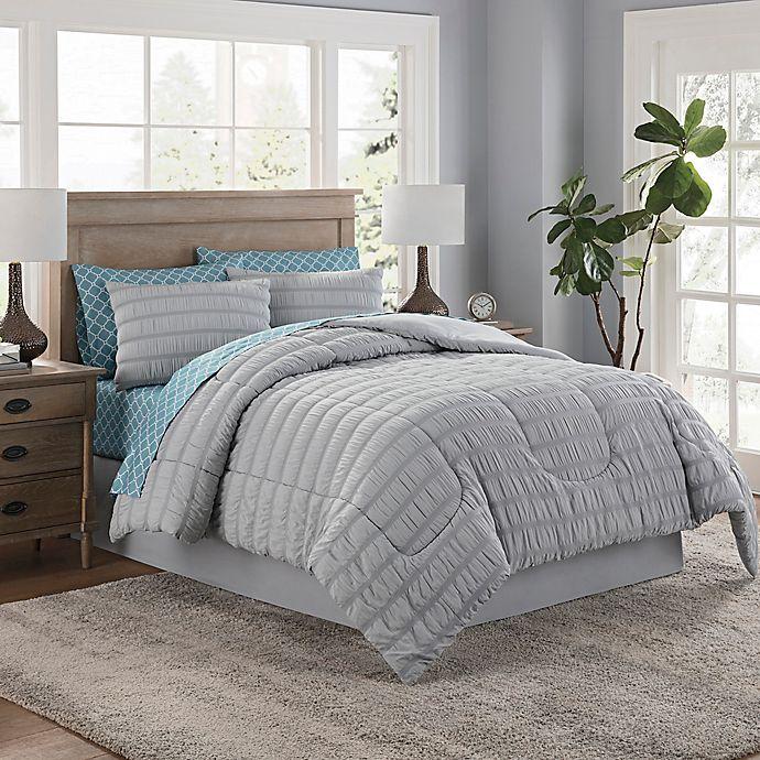 Alternate image 1 for Lindsay 6-Piece Twin Comforter Set in Grey