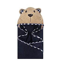 Hudson Baby® Plaid Bear Hooded Towel in Brown