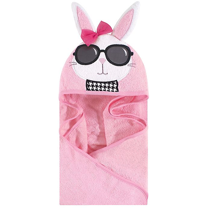 Alternate image 1 for Hudson Baby® Chic Bunny Hooded Towel in White