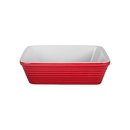 1.5 qt. Square Textured Baker in Red/White