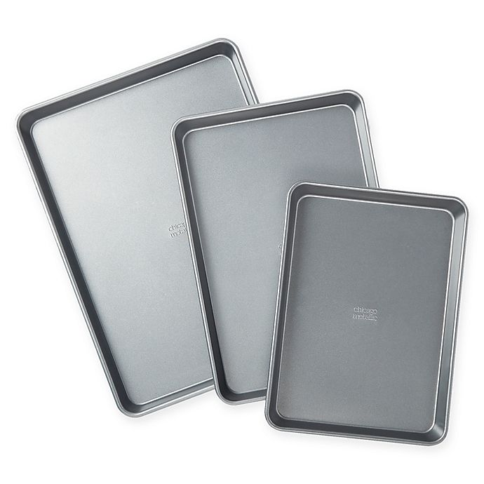 Alternate image 1 for Chicago Metallic™ 3-Piece Nonstick Jelly Roll Pan Set with Armor-Glide Coating