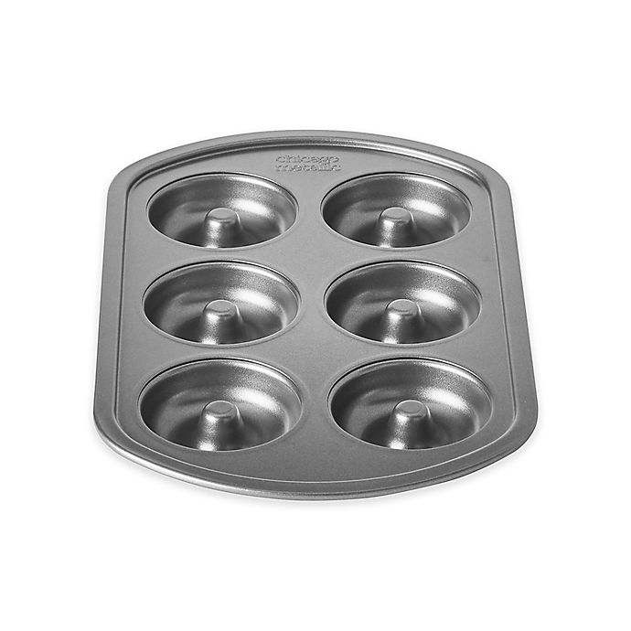 Alternate image 1 for Chicago Metallic™ 6-Cup Nonstick Doughnut Pan with Armor-Glide Coating