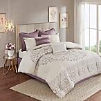 Madison Park Elise 8-Piece Reversible King Comforter Set in Purple