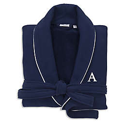 Linum Home Textiles Personalized Waffle Small/Medium Terry Bathrobe in Navy
