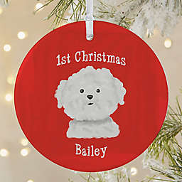 Top Dog Breeds 1-Sided Matte Christmas Ornament