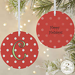Dot to Dot 2-Sided Matte Christmas Ornament